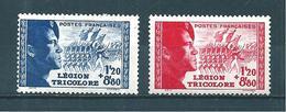 France Timbres De 1942  N°565 Et 566 Pour La Légion  Neuf * Cote 13,80 € - France