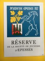 8620 - Réserve De La Jeunesse D'Epesses Suisse - Etiquettes