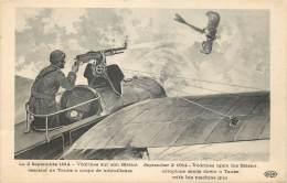 Le 02/09/1914 : Vedrines Sur Son Blériot Descend Un Taupe - Guerre 1914-18