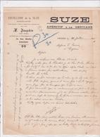 80-A.Dauphin Agent De La Distillerie De La Suze Apéritif à La Gentiane ..Amiens..  (Somme) 1928 - France