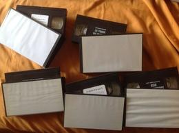 VHS-SECAM LOT DE 5, CARRÉ BLANC - Video Tapes (VHS)