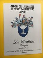 8625 -  Giron Des Jeunesses 1990 Coppet Suisse Les Caillates Tartegnin - Etiquettes