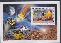 Guinée BF N° 275 XX Espace : Exploration De Mars : Sonde Mars Express Et Lander Beagle, Le Bloc Sans Charnière, TB - Guinea (1958-...)