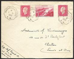 Dulac Sur Enveloppe  - Cachets Ambulants  De Innsbruck (autriche) à Lindau (Allemagne) - 1944-45 Marianne Van Dulac