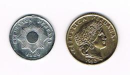 -&  PERU  1 En 5   CENTAVO  1960/1953 - Peru