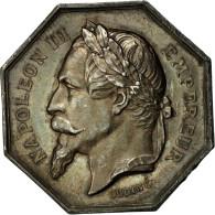 France, Jeton, Napoléon III, Notaires De Fontainebleau, Oudiné, SUP, Argent - France