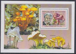 Guinée BF N° 277 XX Flore : Champignons Et Personnalité Médecine : Albert Schweitzer, Le Bloc Sans Charnière, TB - Guinea (1958-...)