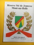 8631 -  Réserve Société DeJeunesse Mont-sur-Rolle  Suisse - Etiquettes