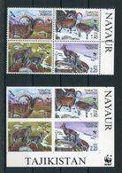 """WWF - Tadschikistan - Mi.Nr. 392 / 395 A + B - """"Blauschaf"""" ** / MNH - Ongebruikt"""