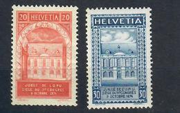 SVIZZERA -1924 - CINQUANTENARIO DELL'UPU. CON DIFETTI. MH* - Nuevos