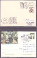 614 BENSHEIM 1966,1973 ,2 X POSTKARTE - Covers & Documents