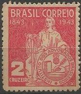 LSJP BRAZIL INSTITUTE OF BRAZILIAN ADVOCATES 1943 MNH - Brésil