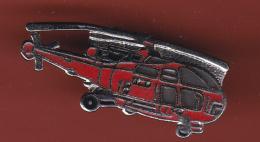53186- Pin's.Helicoptère..Sapeurs Pompiers.18.urgences... - Firemen