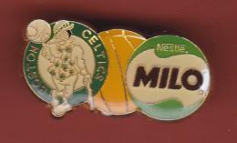 53190- Pin's-Basketball.Boston Celtics..Nestlé Milo.. - Basketball