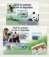 """WWF - Zentralafrikanische Republik - Kleinbogen Mi.Nr. 3083 / 3086 Und Block Nr. 729 - """"WWF-Briefmarken"""" ** / MNH - Ongebruikt"""