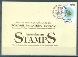 TONGA - FDC - 31.5.1996 - SHARK - Yv 1048 - Lot 17520 - Tonga (1970-...)