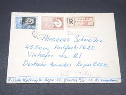 U.R.S.S. - Enveloppe En Recommandé De Riga Pour L 'Allemagne En 1967 - L 19783 - 1923-1991 USSR