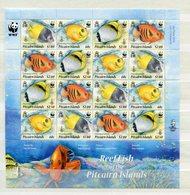 """Pitcairn - Mi.Nr. 805 - 808 Kleinbogen - """"WWF-Fische"""" ** / MNH (aus Dem Jahr 2010) - Pitcairn"""