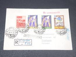U.R.S.S. - Enveloppe En Recommandé De Liepaja En 1957 Pour Les Pays Bas , Affranchissement Plaisant - L 19788 - 1923-1991 URSS