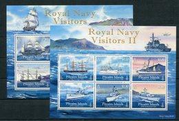 """Pitcairn - Block Nr. 54 Und 56 - """"Schiffe Der Royal Navy"""" ** / MNH (aus Dem Jahr 2009 Und 2010) - Pitcairn"""