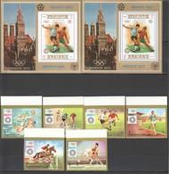 O578 !!! IMPERF,PERF AJMAN FOOTBALL OLYMPICS MUNICH 1972,1974 GOLD 2BL+1SET MNH - Sommer 1972: München