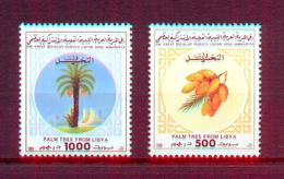 Libya 1988 - Stamps 2v -The Palm Tree -  Dates & Palm Tree - MNH** Excellent Quality - Libya