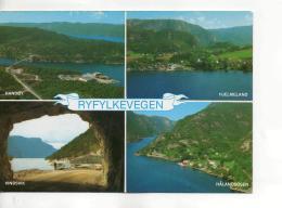 Postcard - Ryfylkevegen Four Views - Unused Very Good - Unclassified
