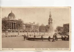 Postcard - National Gallery, Trafalgar Square, London - Series A No.28 - Unused Very Good - Unclassified