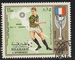 PIA- ARAB. SUD EST - SHARJAH - 1972 - Giochi Olimpici Di Monaco - Incontri Di Calcio :Italia-Ungheria 4-2 -(Yv  245) - Arabia Saudita