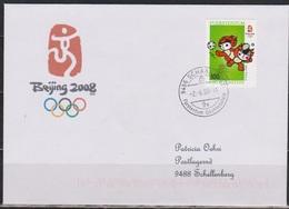 Lichtenstein FDC 2008  MiNr.1486 Olympische Sommerspiele Peking, Gelaufen ( D 6185 ) Günstige Versandkosten - FDC