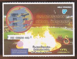 AC -  TORCH OF CENTENARY OF GALATASARAY SPORTS CLUB LOTTERY TICKET - Lottery Tickets