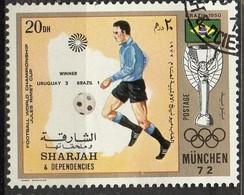PIA- ARAB. SUD EST - SHARJAH - 1972 - Giochi Olimpici Di Monaco - Incontri Di Calcio : Uruguay-Brasile 2-1 -(Yv  245) - Saudi Arabia