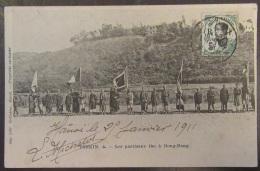 Viêt-Nam (Tonkin) - Les Partisans Tho à Dong-Dang - Carte Animée Circulée En 1911 - Viêt-Nam