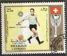 PIA- ARAB. SUD EST - SHARJAH - 1972 - Giochi Olimpici Di Monaco - Incontri Di Calcio : Germania -Ungheria 3-2 -(Yv  245) - Saudi Arabia
