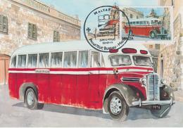 Malta Maximum Card 29 Mi 1678 Buses - The End Of An Era - Commer Q4, Lija - Malta