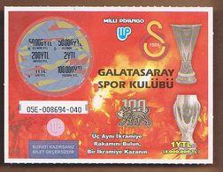 AC -  GALATASARAY SPORTS CLUB LOTTERY TICKET 2005 E - Lottery Tickets