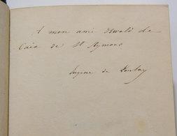 EUGENE DE LONLAY: POESIES 1844  / 1845 _ Autografato Dall'autore! Dedicacé _bella Rilegatura Personalizzata _ Illustrato - Poesia