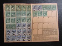 Fiscaux Socio-postaux Alsace Lorraine Elsass Lothringen 1940 1941 - NIEDERMORSCHWIHR - Steuermarken