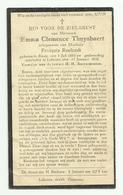 Doodsprentje  *  Thuysbaert Emma Clemence (° Sinay 1883 /  + Lokeren 1932)  X Roelandt François - Godsdienst & Esoterisme