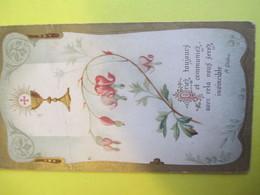Image Religieuse/Ciboire Et Fushia/ Citation Didon/ Doré/Vers 1900                      IMPI21 - Images Religieuses