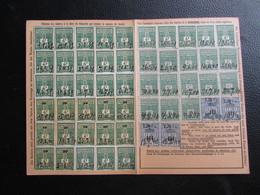 Fiscaux Socio-postaux Alsace Lorraine Elsass Lothringen 1940 1941 - STRASBOURG - Surcharges Décalées - Steuermarken