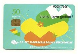 Bosnia - Tessera Telefonica Da 50 Units T524 - J.P. PTT, - Bosnia