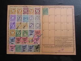 Fiscaux Socio-postaux Alsace Lorraine Elsass Lothringen 1940 1941 - COLMAR KOLMAR - Steuermarken