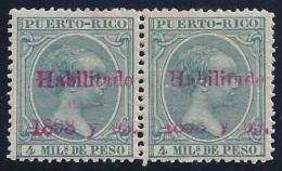 """ESPAÑA/PUERTO RICO 1898 - Edifil #153 - MLH * Variedad: Falta """"PARA"""" En La Sobrecarga - Porto Rico"""