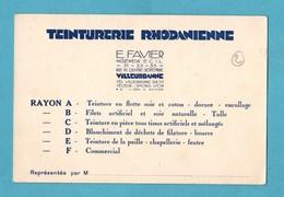 69 Rhone Villeurbanne Teinturerie Rhodanienne Rue  Du 4 Septembre Carte De Visite Format 8cm X 12 Cm - Advertising