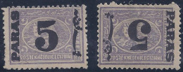 EGIPTO 1879 - Yvert #21+21b (sobrecarga Invertida) - MLH * - 1866-1914 Khedivato De Egipto