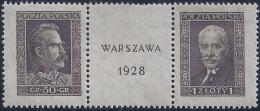 POLONIA 1928 - Yvert #340/41 - MNH ** - 1919-1939 República