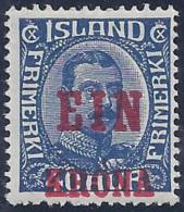 ISLANDIA 1926 - Yvert#120 - MLH * - 1918-1944 Administración Autónoma