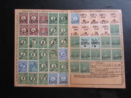 Fiscaux Socio-postaux Alsace Lorraine Elsass Lothringen 1940 1941 - SEWEN - Revenue Stamps