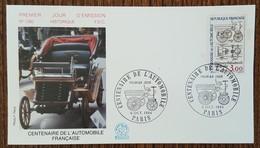 FDC 1984 - YT N°2341 - CENTENAIRE DE L'AUTOMOBILE - PARIS - 1980-1989